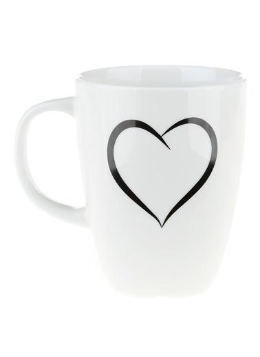 Morhipo Home Kalp - Çift Taraflı Kupa Beyaz